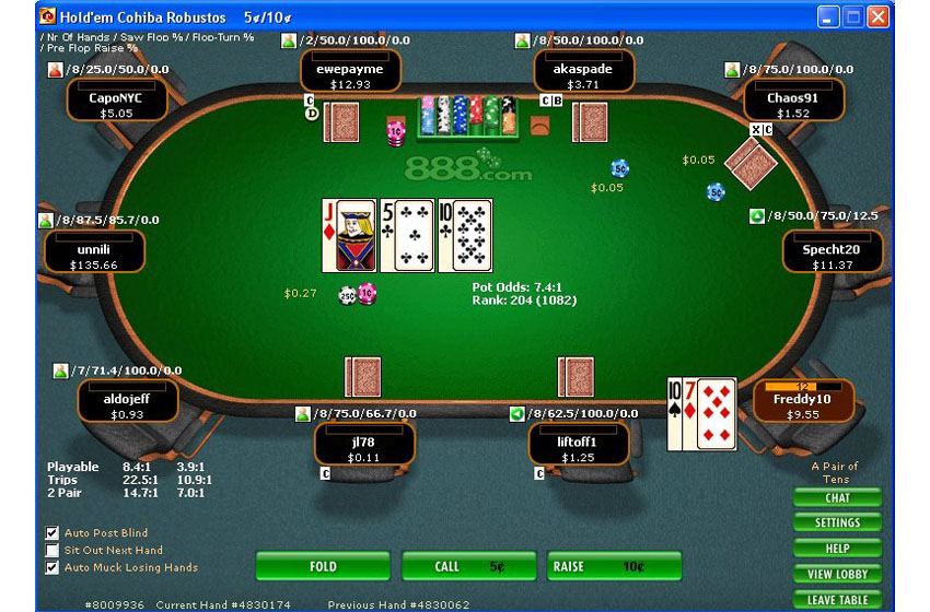 Heads-Up Display PokerOffice 5