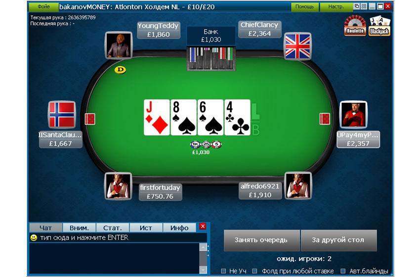 Стол William Hill Poker