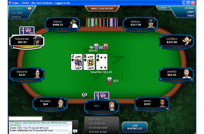 Лобби Full Tilt Poker